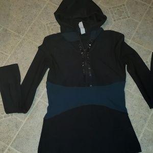 Mondetta hooded sport zip front jacket